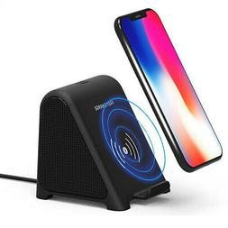 2 In 1 R8 Wireless Charger bluetooth Speaker Stereo Mini Por