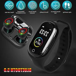 2-In-1 Smart Watch With TWS Bluetooth 5.0 Wireless Earbuds T