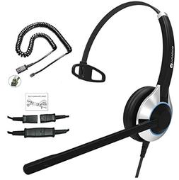 TruVoice HD-500 Deluxe Single Ear Noise Canceling Office/Cal