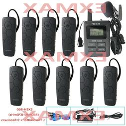 EXMAX 860-870mHz Wireless Whisper Tour Guide System Headset