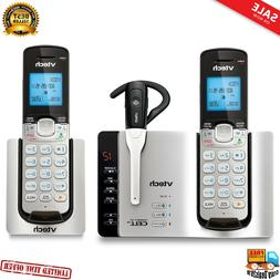 VTech DS6671-3 DECT 6.0 Expandable Cordless Phone with Bluet