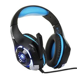 BEEXCELLENT 3.5mm Gaming Headset with Microphone, LED Light