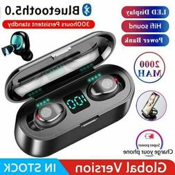 Bluetooth 5.0 TWS Wireless Earphones Twins Earbuds Stereo He