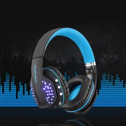 Bluetooth Headphones Gaming Headset with Microphone LED for