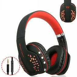 BT Wireless Gaming Headset for Xbox PC PS4 With Mic LED Volu