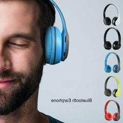 Foldable Wired/Wireless Headset Kids Adults Headphones Over