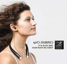 Bluetooth Wireless Headset With Mic Neckband Auto Retractabl