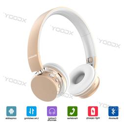 Cheap Wireless Bluetooth 4.2 Headphones Over Ear Foldable He