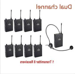 dcuhf 938ue wireless headset tour guide translation