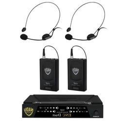 Nady ENC-DUET-HM3 Wireless Dual Channel Headset Microphone S