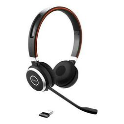 Jabra Evolve 65 MS Stereo Headset Connects to PC, Mobile & T