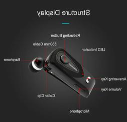 Fineblue F930 Wireless Bluetooth Retractable Headset Call Cl