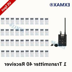 EXMAX FM Wireless Simultaneous Interpretation System 1 Trans