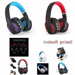 Folding Wireless Gaming Headset for PS4 Xbox One PC with Mic