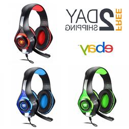 Beexcellent Gaming Headset Mic XBOX One Wireless PS4 Headpho