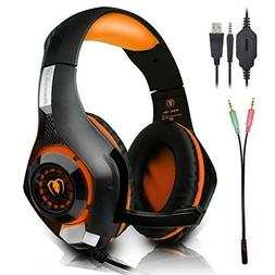 Beexcellent Gaming Headset with Microphone for New Xbox PS4