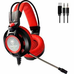 Gaming Headset with Microphone for PC Games Over Ear Compute