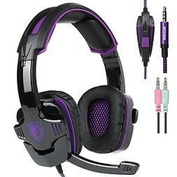 Ocamo 3.5mm Gaming Headsets with Microphone Noise Cancellati
