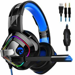 A66 Pro Gaming Headset With Mic For XBOX One Wired PS4 Headp