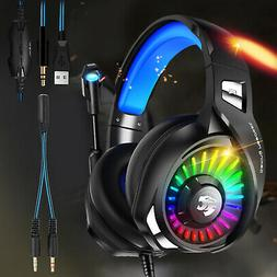 HI-FI Sound Stereo Gaming Headset Headphones For PS4 Xbox On