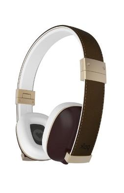 Polk Audio Hinge Headphones - Brown/Gold - with 3 button rem