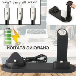 Wireless Charger Charging Station Dock Stand For iPhone Andr