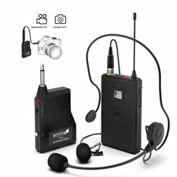 Fifine K037B Wireless Microphone Set with Headset Lavalier L