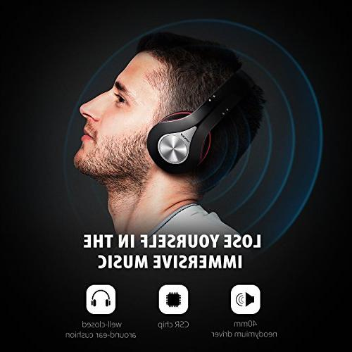 Mpow 059 Over Hi-Fi Wireless Memory-Protein Earmuffs, w/Built-in Mic and Mode PC/Cell Phones/TV
