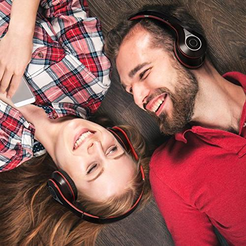 Mpow 059 Bluetooth Headphones Over Wireless Memory-Protein Earmuffs, w/Built-in and PC/Cell