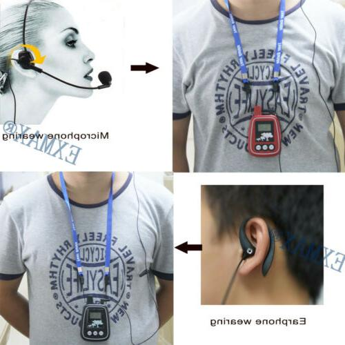 EXMAX 150M Audio Headset Tour Guide System WTG-05 For
