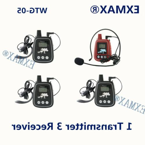 150m wireless audio headset tour guide system