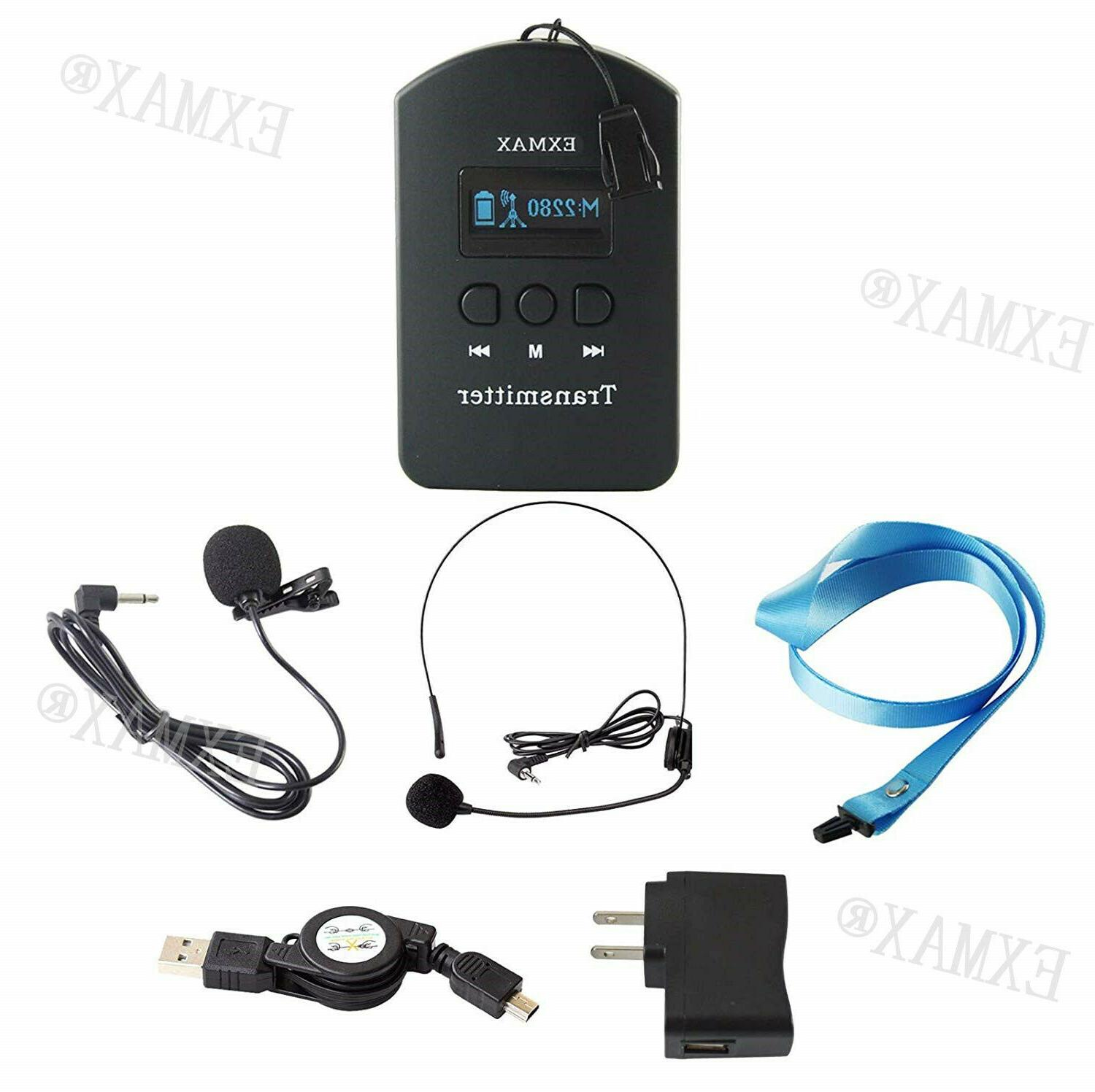 EXMAX Wireless Tour Guide System Same Channel