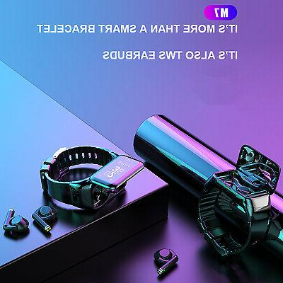 2 In Watch Touch Earphone Bluetooth 5.0 Headset Wristband