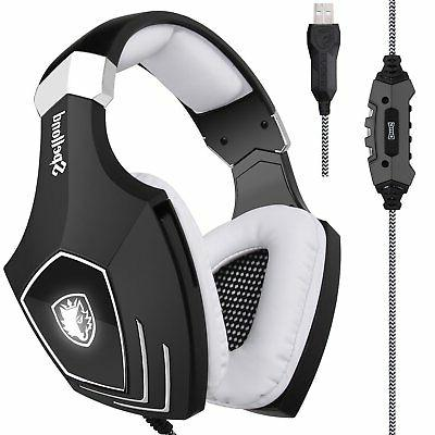 2017 newly updated usb gaming headset a60