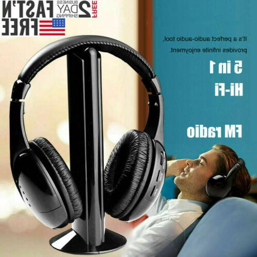 5 in 1 headset wireless headphones cordless