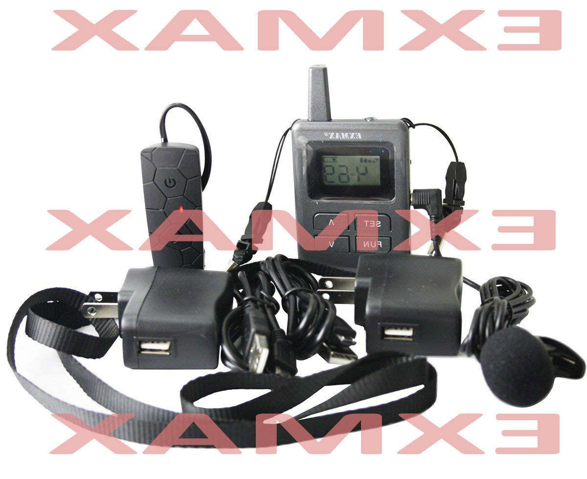 EXMAX Wireless Tour Guide System Mini Ear-hook-1T8R
