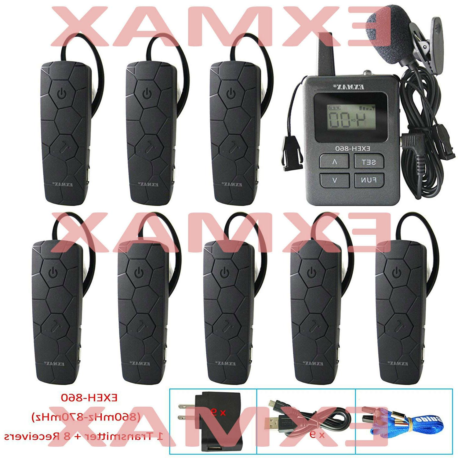860 870mhz wireless whisper tour guide system