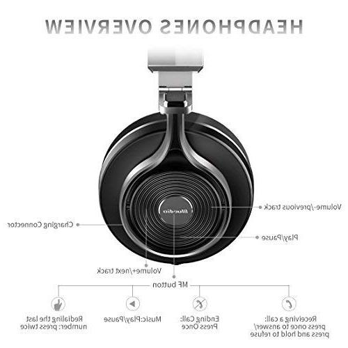 Bluedio T3 Bluetooth Ear with 57mm Driver Folding Headset, and for