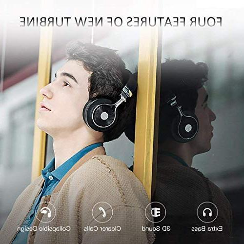 Bluedio Bluetooth On with Mic, Folding Wireless and Headphones Cell Phone/TV/PC