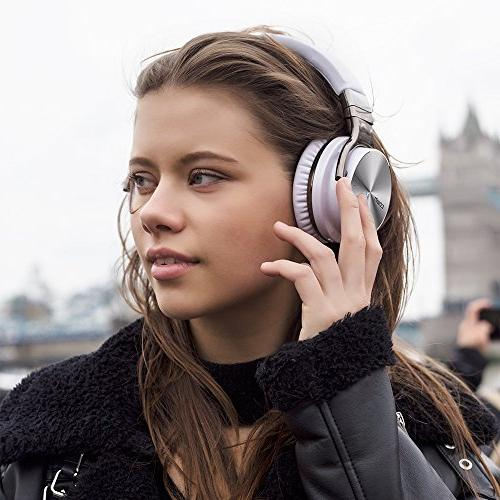 COWIN Noise Headphones with Deep Over Ear for Work Computer Phone