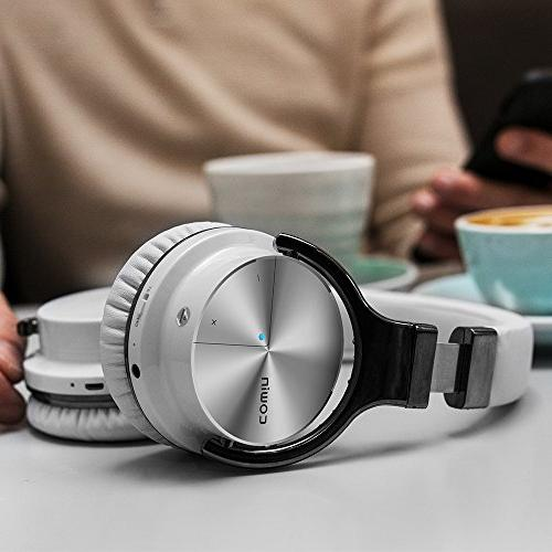Noise Cancelling Headphones with Hi-Fi Deep Wireless Over Ear 30H for Travel TV