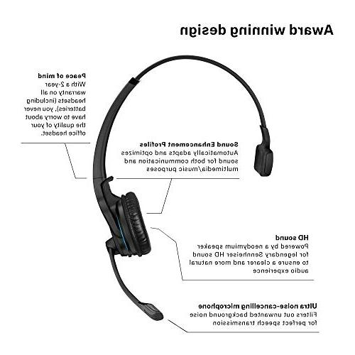 Sennheiser MB UC - Dual-Connectivity, Wireless For Desk/Mobile Softphone/PC Sound & Major UC