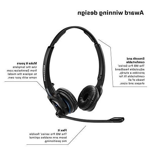 Sennheiser Pro 2 UC - Wireless Headset | For Softphone/PC Connection| w/ HD Sound & Platform