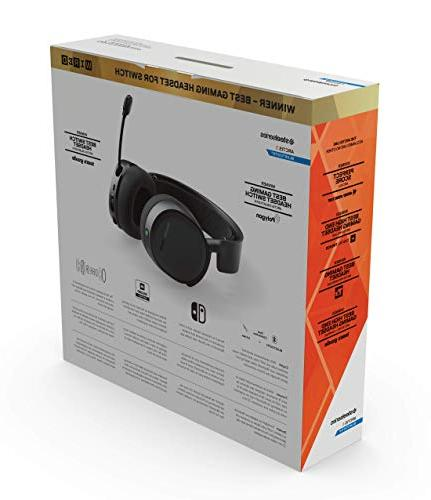 SteelSeries Arctis Bluetooth Wired and Wireless Gaming Headset Nintendo Switch, PC, Playstation One, Android iOS Black