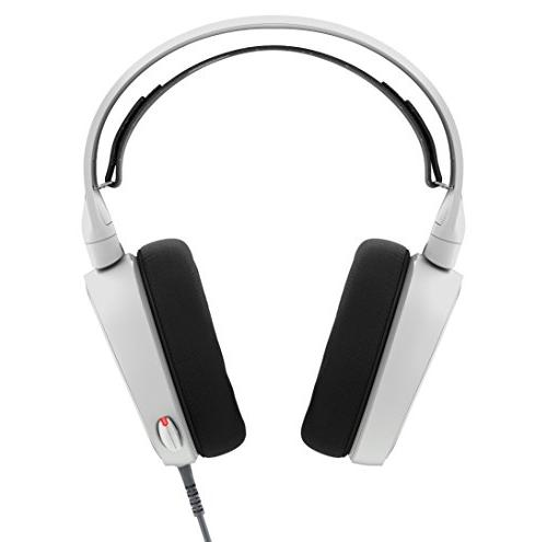 SteelSeries Arctis 5 RGB Illuminated Gaming with DTS Headphone :X 7.1 Surround PlayStation 4, VR, Android iOS - White