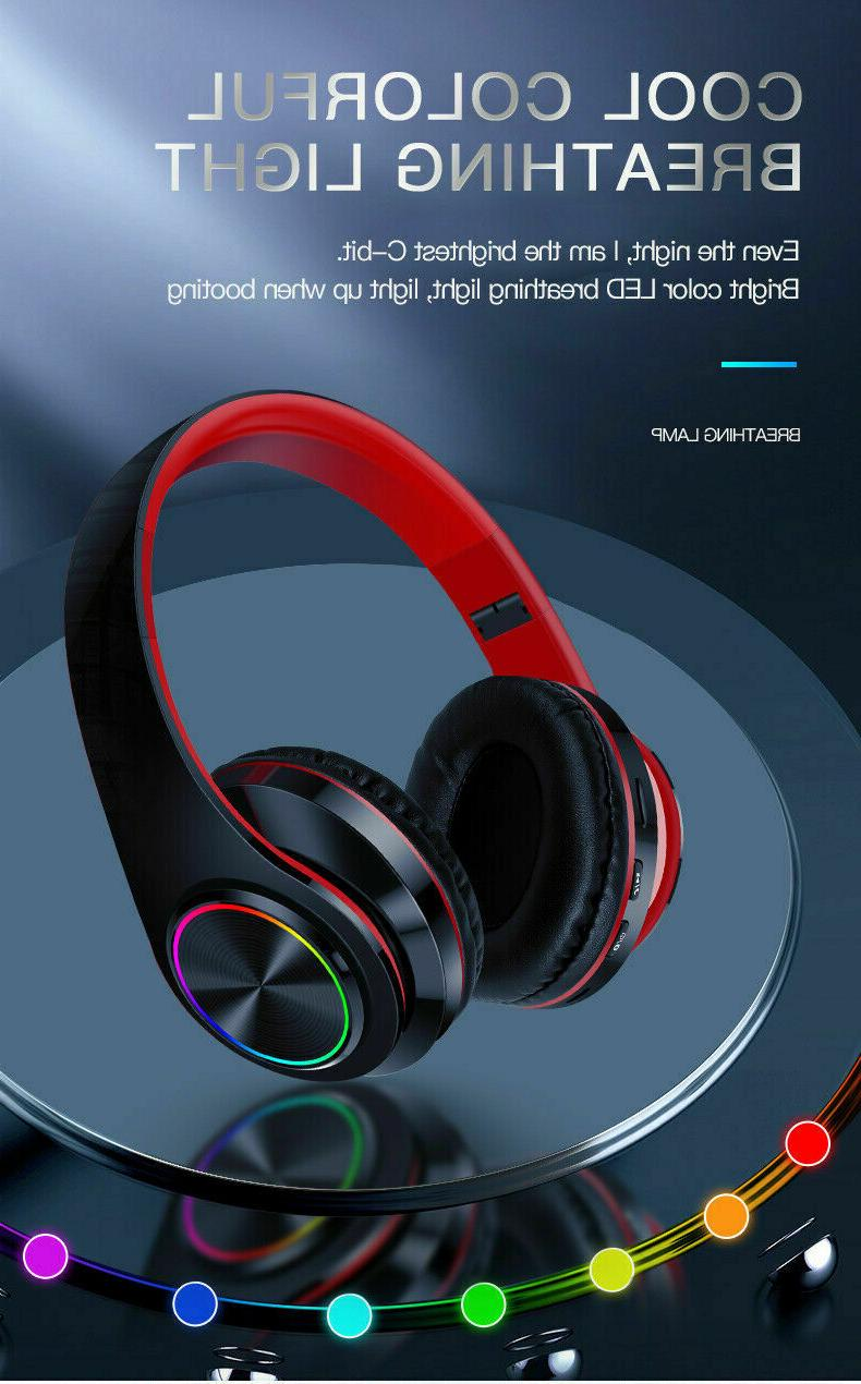Wireless 3.5mm Gaming Headset LED Headphones Stereo Over Ear PC Xbox ONE