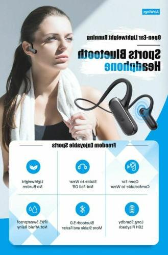 Bluetooth Neckband Sport Mic Open Ear Earbud