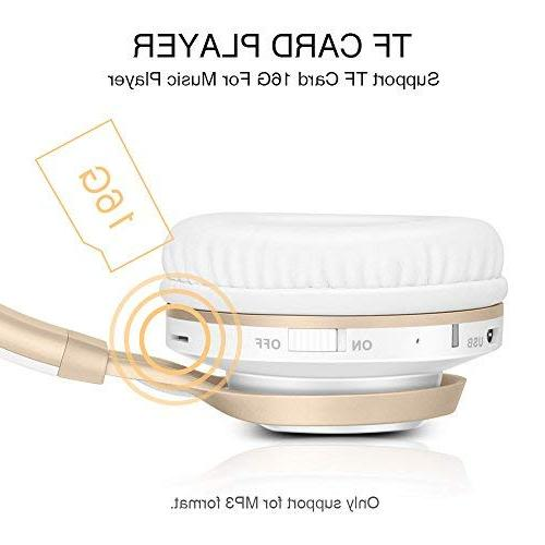 Bluetooth HiFi Wireless with Comfortable Protein TF Card Mode, Radio for PC TV