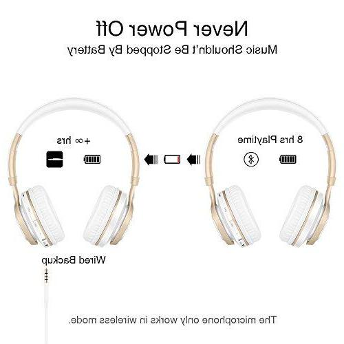 Bluetooth Headphones with HiFi Stereo Wireless Protein TF Card Radio Mode for PC TV Smartphone