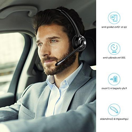 Bluetooth Phone Microphone, Wireless Portable, Men, Women, VOIP, Skype, Truckers/Truck Drivers- Vont